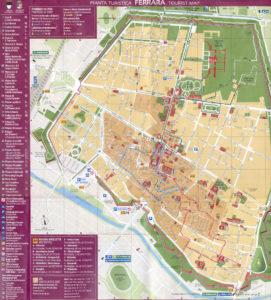 Mappa turistica di Ferrara da scaricare