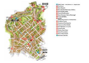 Mappa turistica di Bergamo