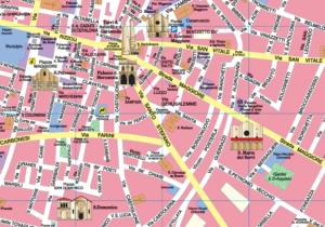Mappa turistica di Bologna