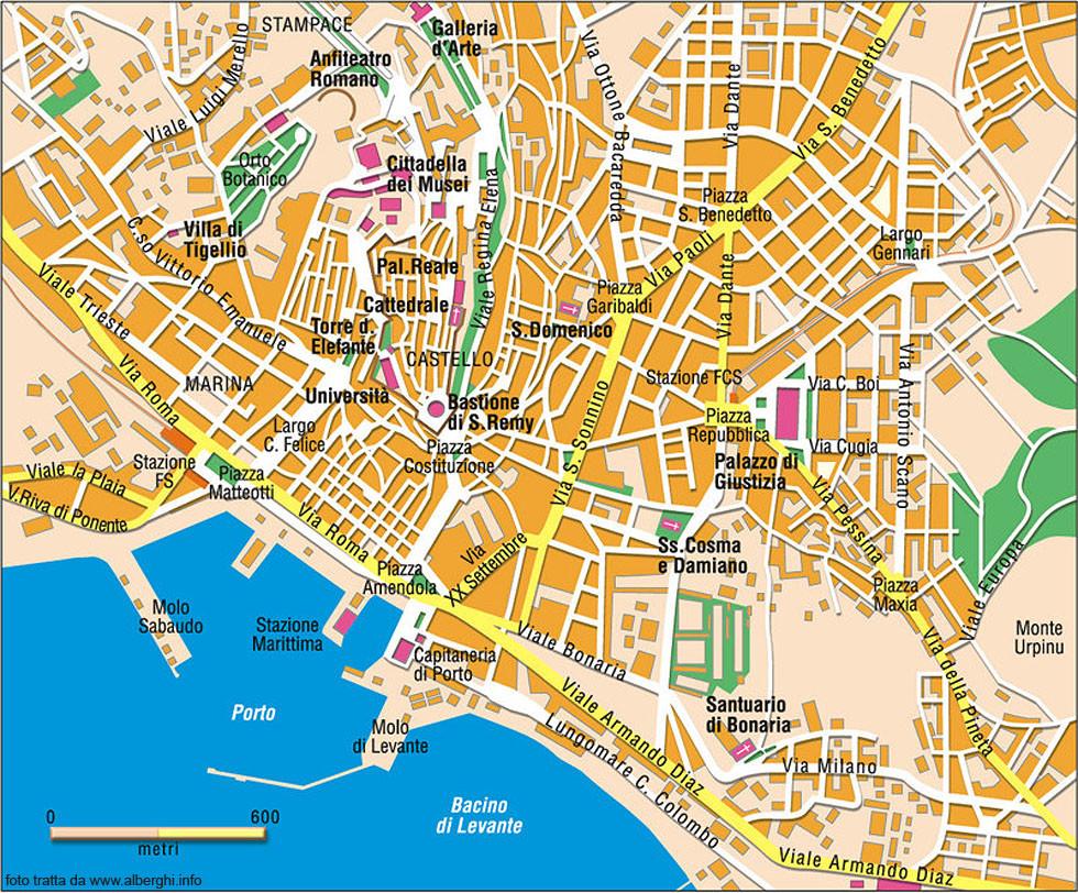 Cartina Geografica Di Cagliari.Cosa Vedere A Cagliari E Cosa Visitare A Cagliari Monumenti Locali Eventi